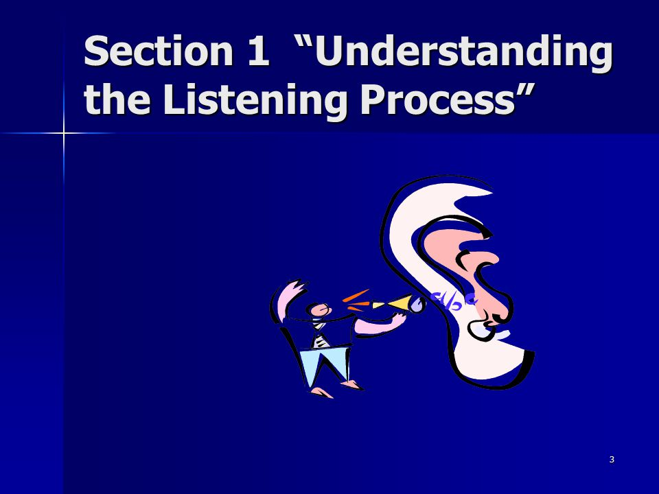 Section 1 Understanding the Listening Process