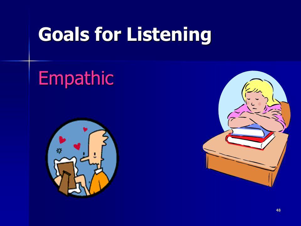 Goals for Listening Empathic