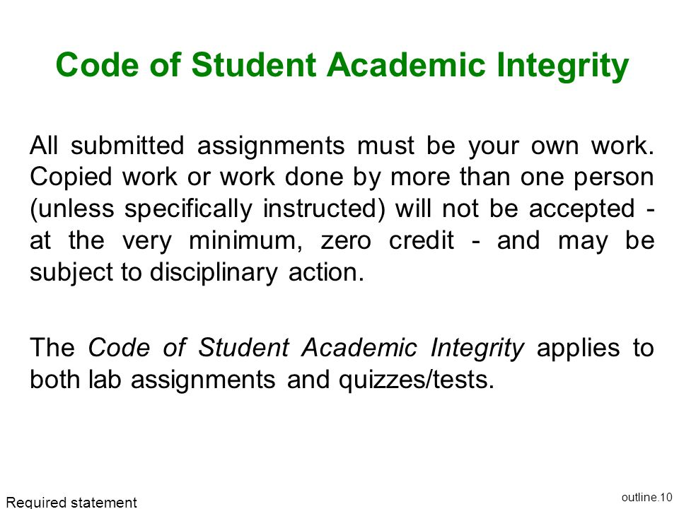 Code of Student Academic Integrity