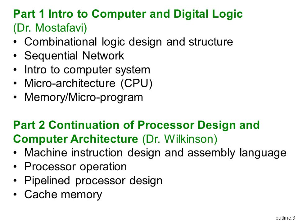 Part 1 Intro to Computer and Digital Logic