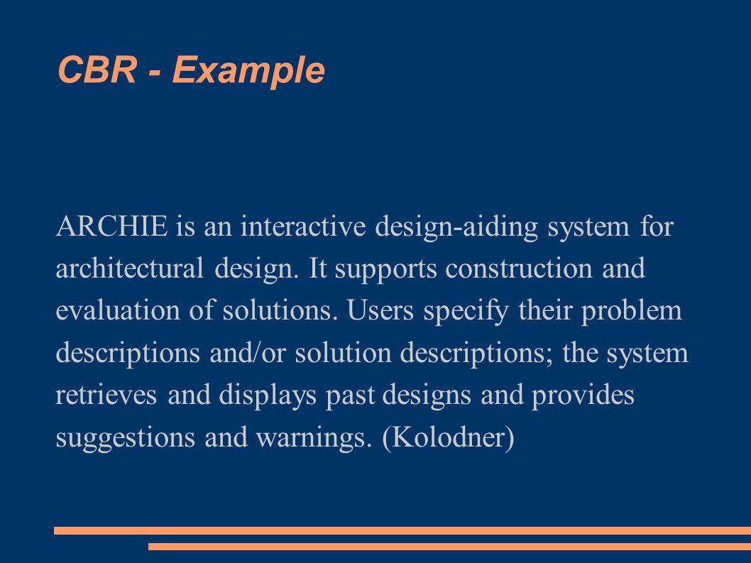 CBR - Example