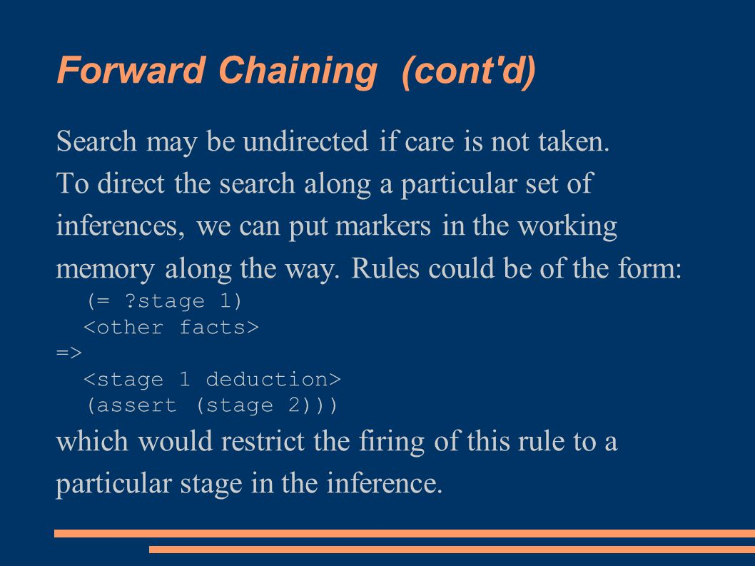 Forward Chaining (cont d)