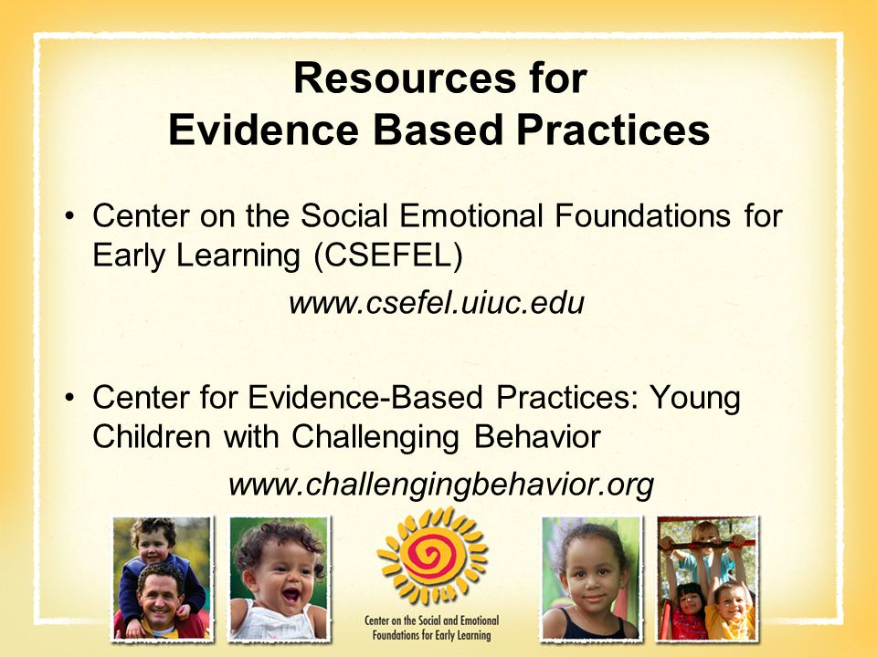 Resources for Evidence Based Practices
