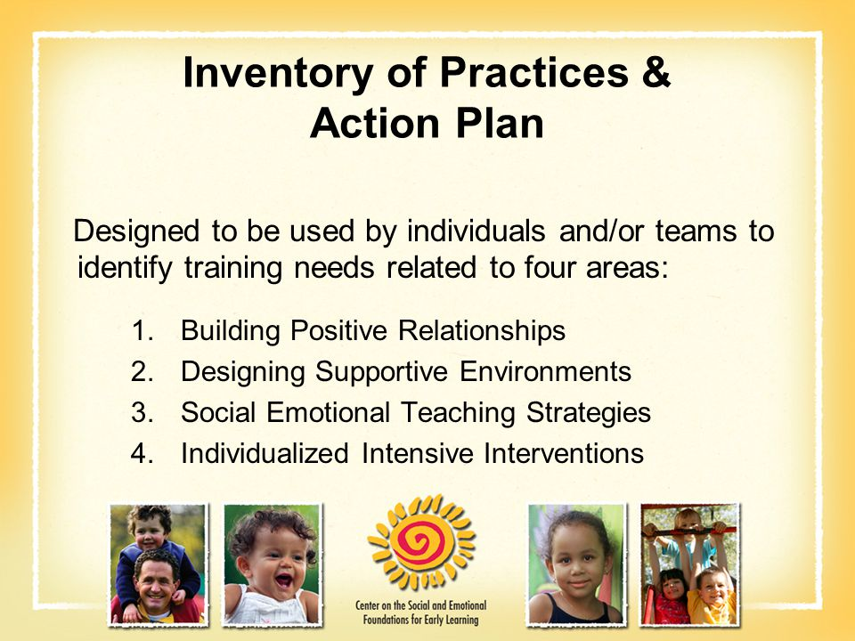 Inventory of Practices & Action Plan