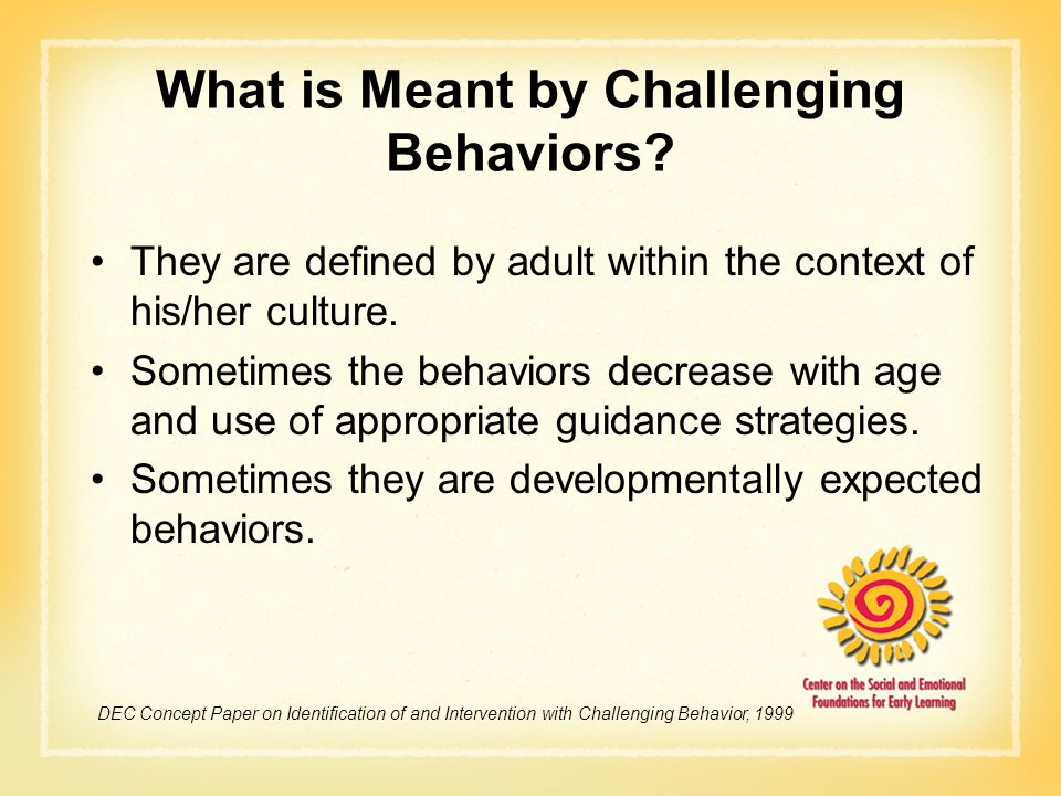 What is Meant by Challenging Behaviors