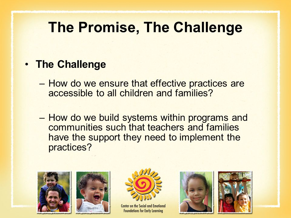 The Promise, The Challenge