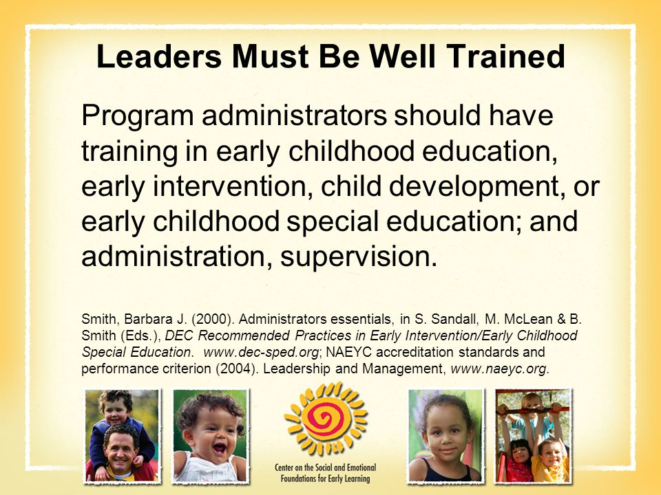 Leaders Must Be Well Trained