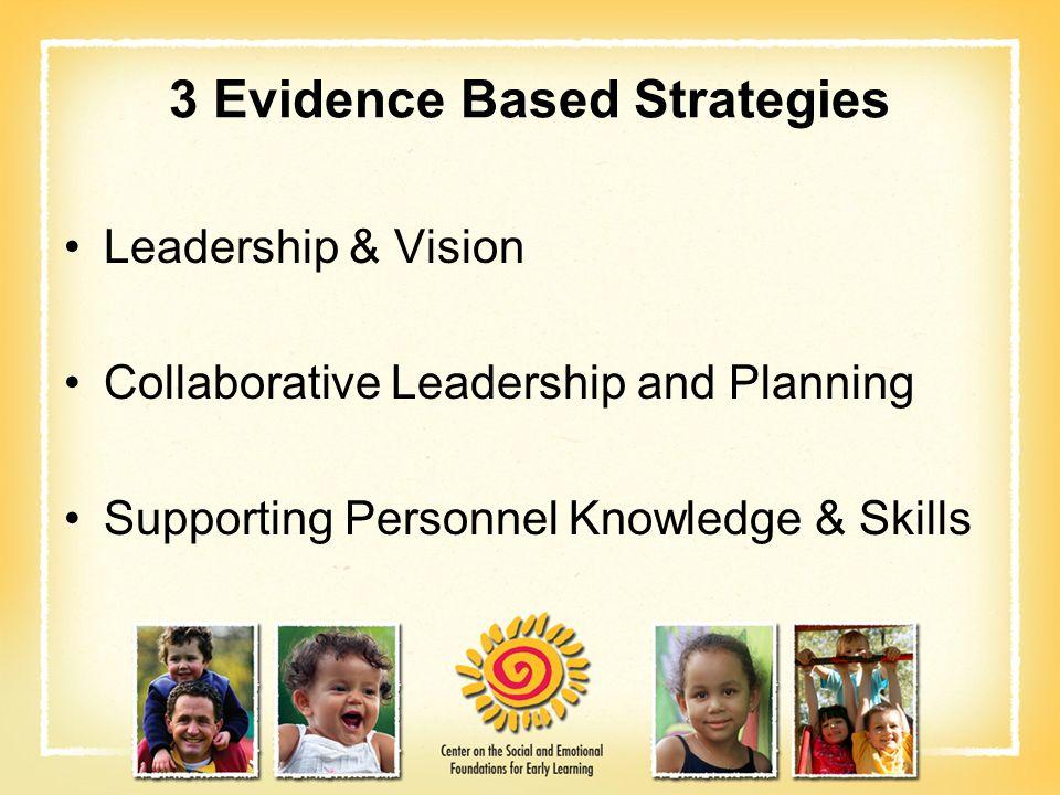 3 Evidence Based Strategies