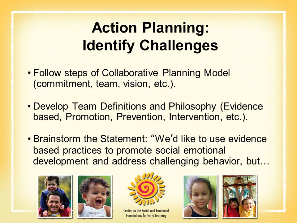 Action Planning: Identify Challenges