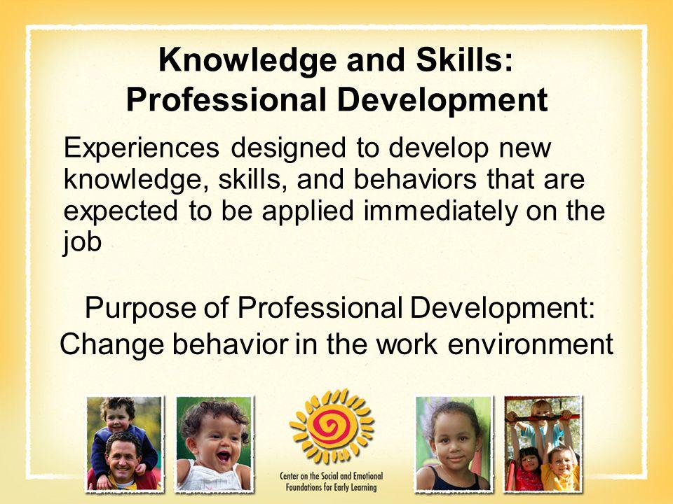 Knowledge and Skills: Professional Development