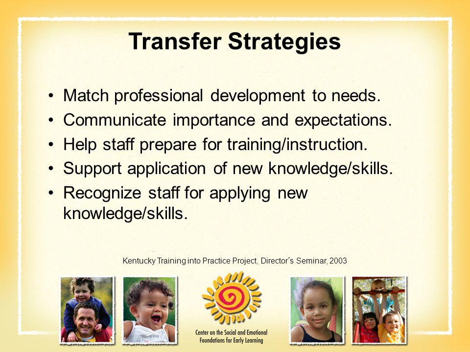 Kentucky Training into Practice Project, Director's Seminar, 2003