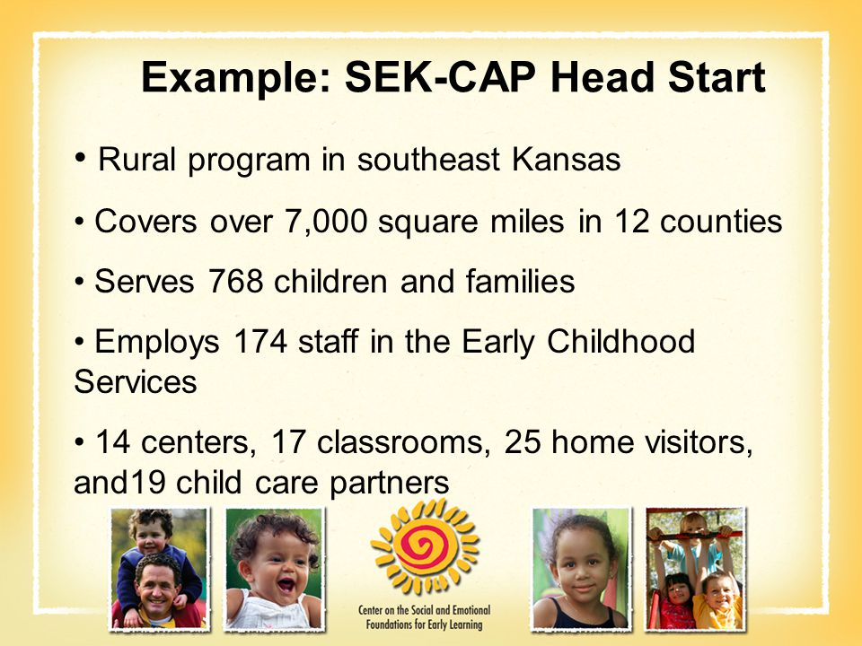 Example: SEK-CAP Head Start