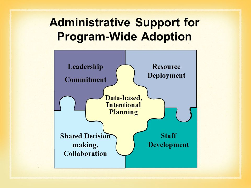 Administrative Support for Program-Wide Adoption