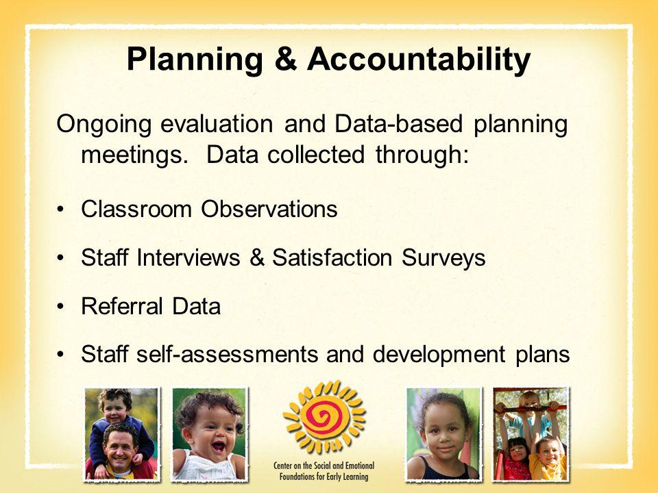Planning & Accountability