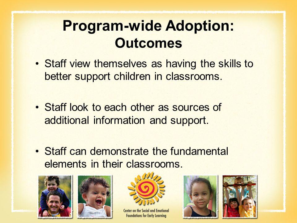 Program-wide Adoption: Outcomes