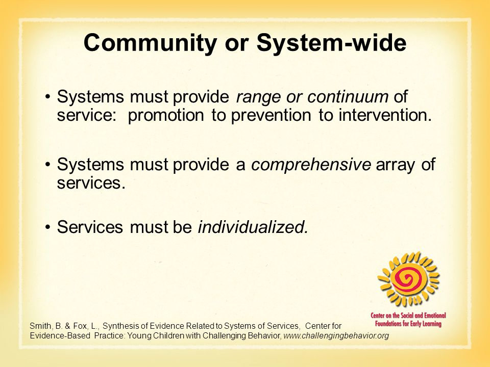 Community or System-wide