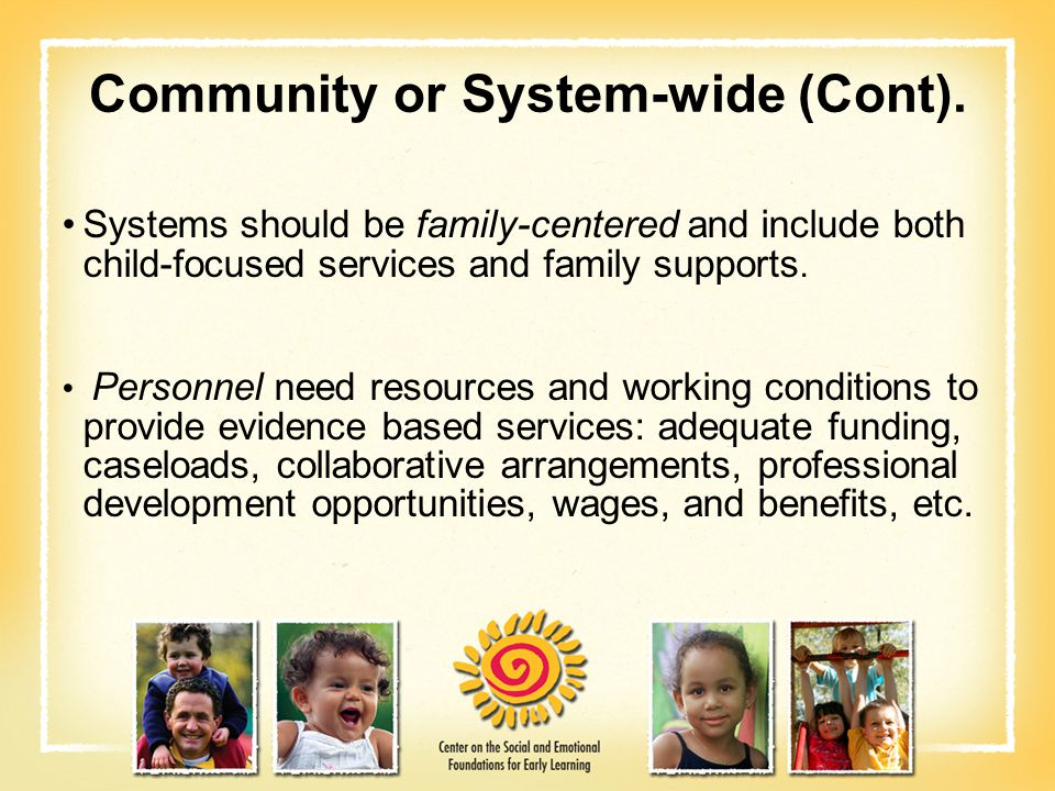 Community or System-wide (Cont).