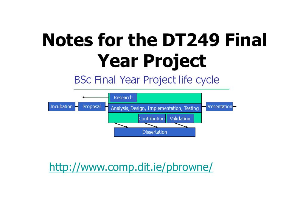 Notes for the DT249 Final Year Project