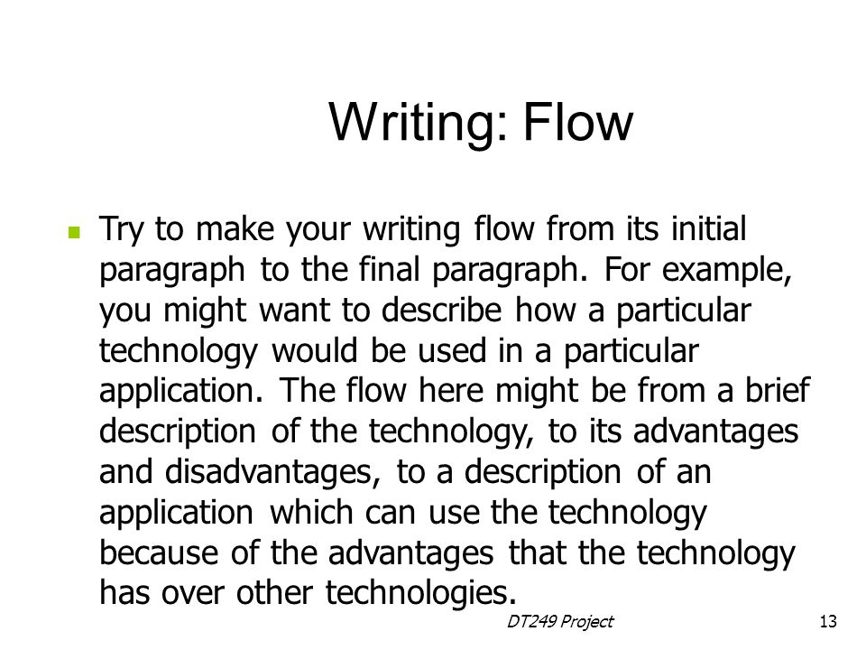 Writing: Flow
