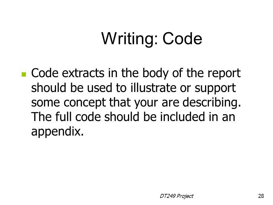 Writing: Code