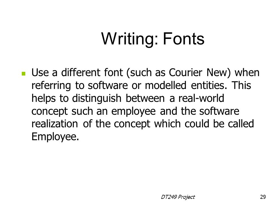 Writing: Fonts