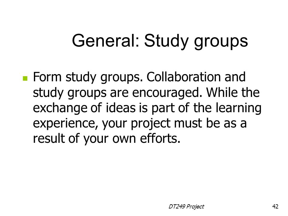 General: Study groups