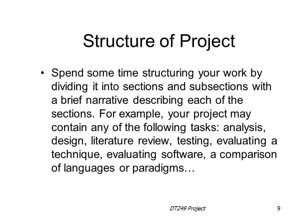 Structure of Project