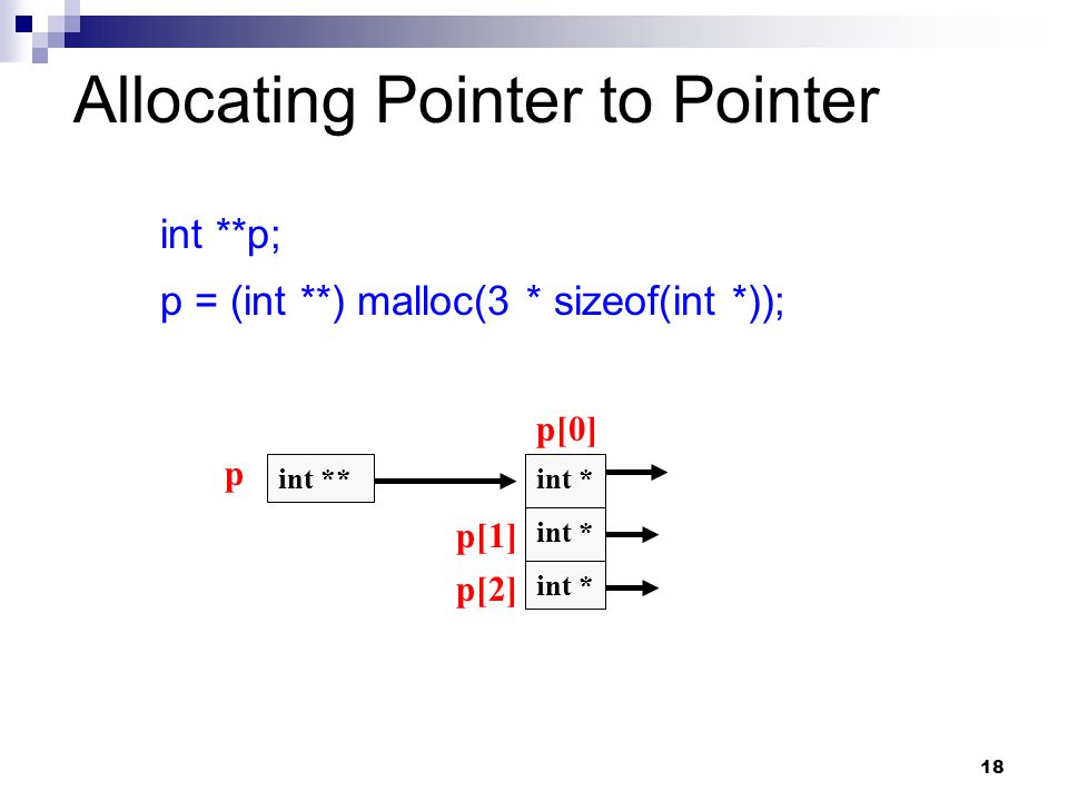 Allocating Pointer to Pointer