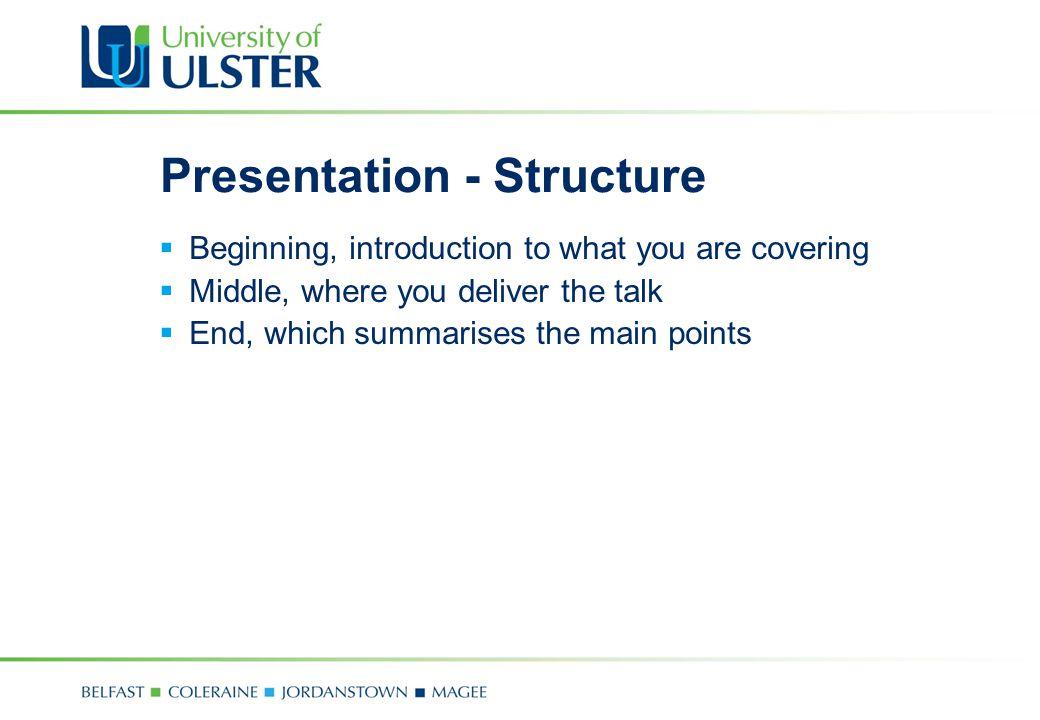 Presentation - Structure