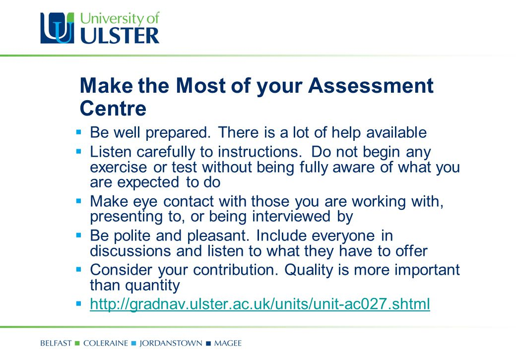 Make the Most of your Assessment Centre
