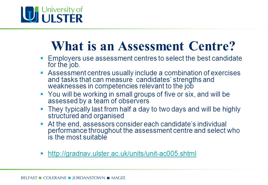 What is an Assessment Centre