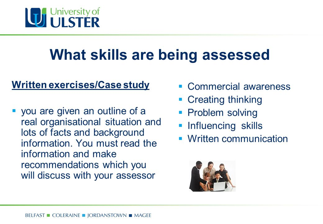 What skills are being assessed
