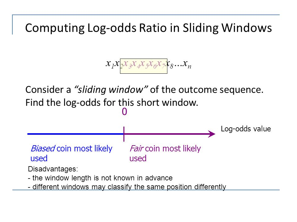 Computing Log-odds Ratio in Sliding Windows