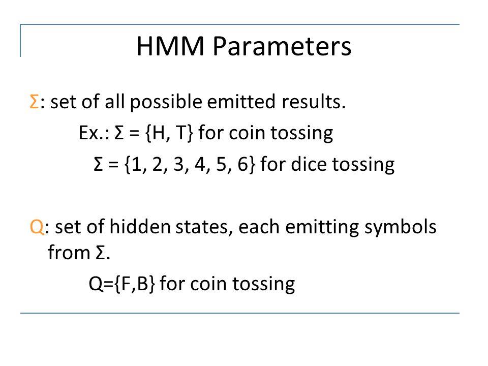 HMM Parameters