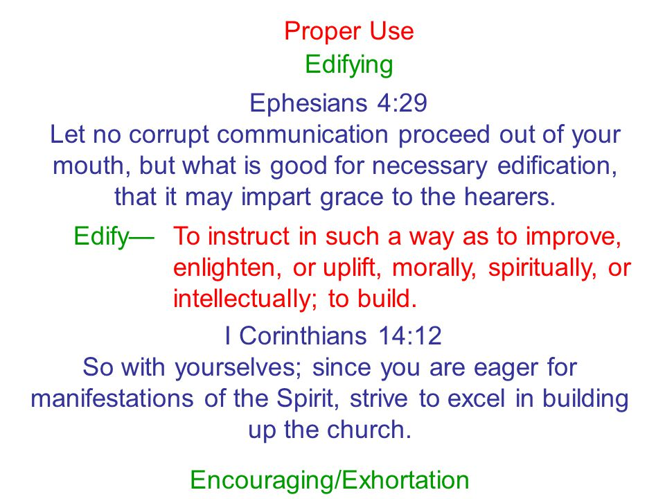 Encouraging/Exhortation