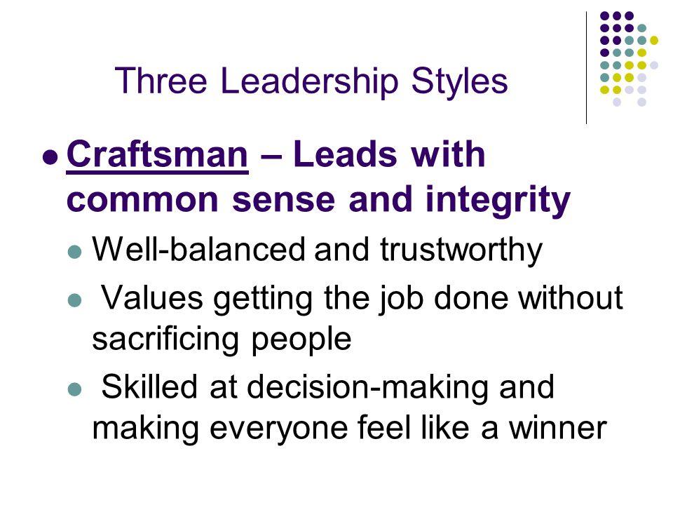 Three Leadership Styles