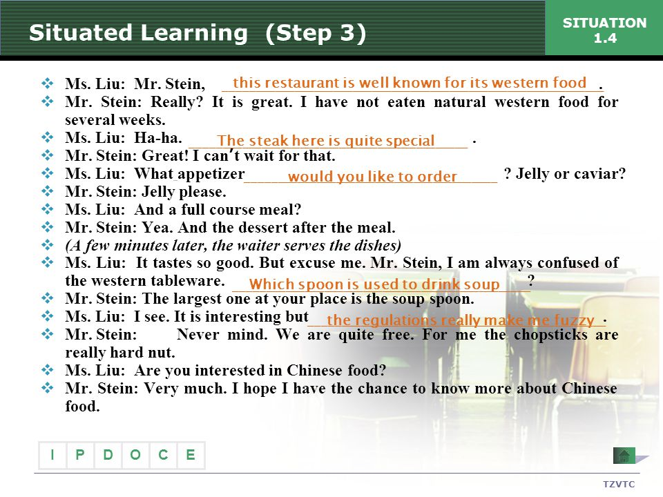 Situated Learning (Step 3)