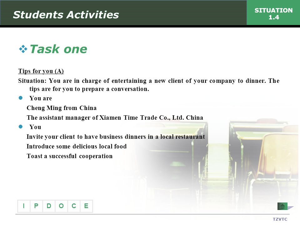 Task one Students Activities Tips for you (A)
