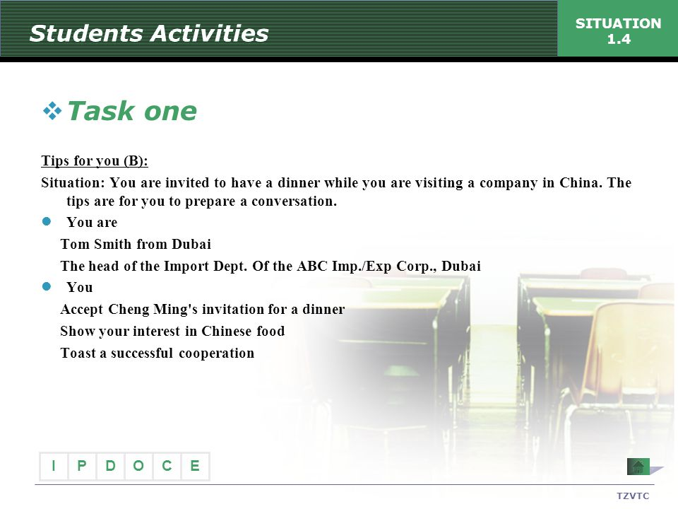 Task one Students Activities Tips for you (B):