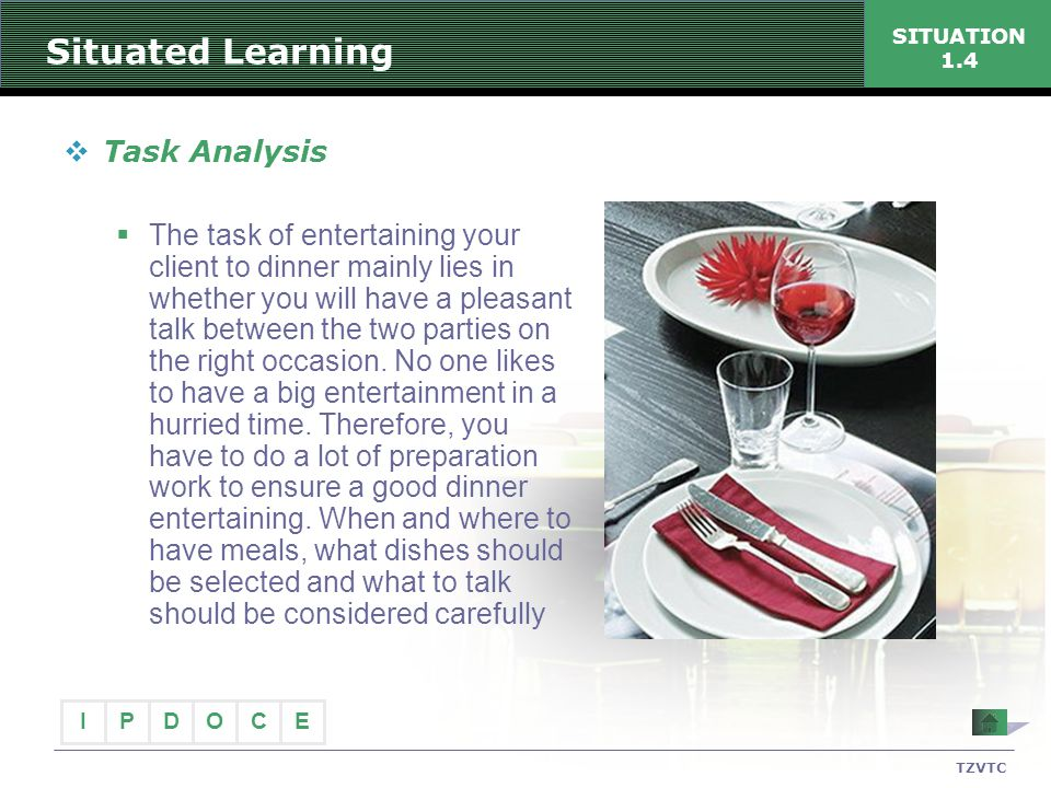 Situated Learning Task Analysis