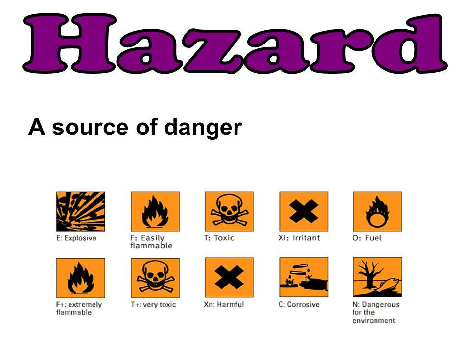 Hazard A source of danger