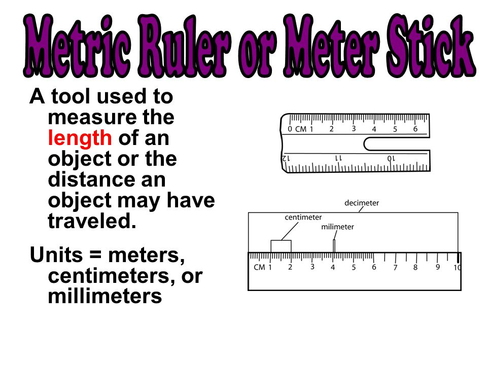 Metric Ruler or Meter Stick