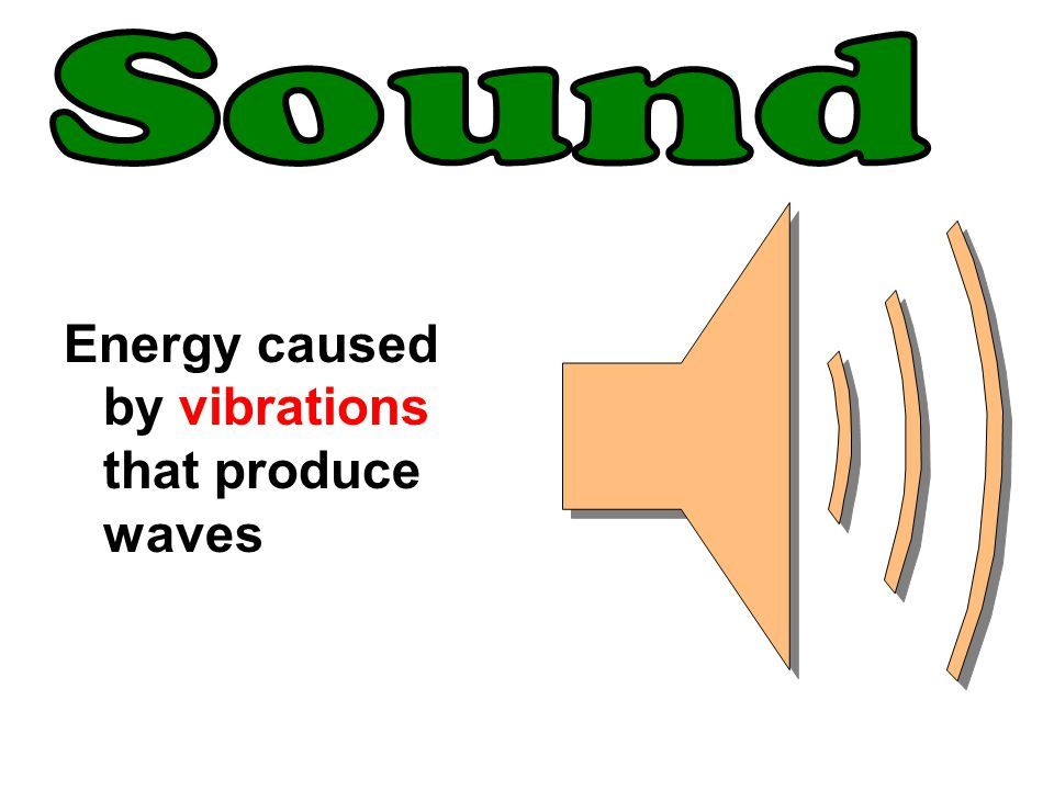 Sound Energy caused by vibrations that produce waves