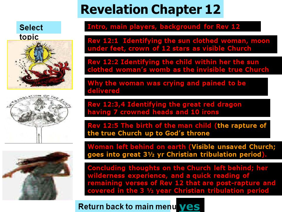 Revelation Chapter 12 yes Select topic Return back to main menu