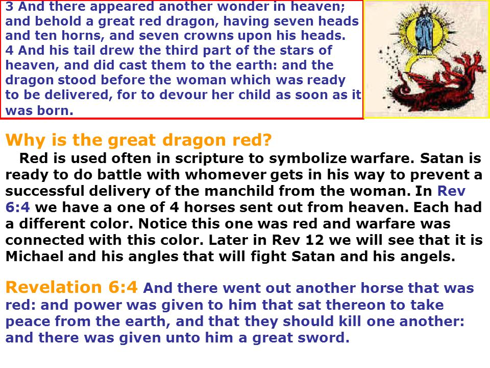 Why is the great dragon red