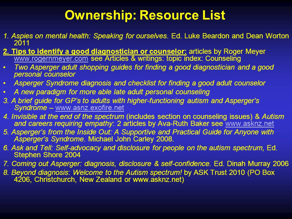Ownership: Resource List