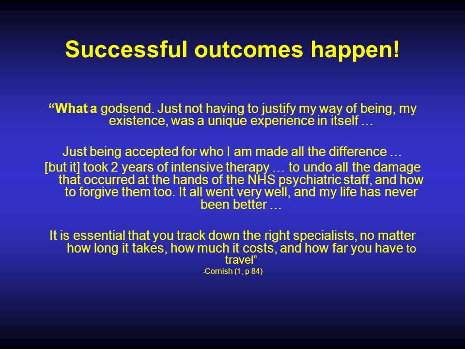 Successful outcomes happen!