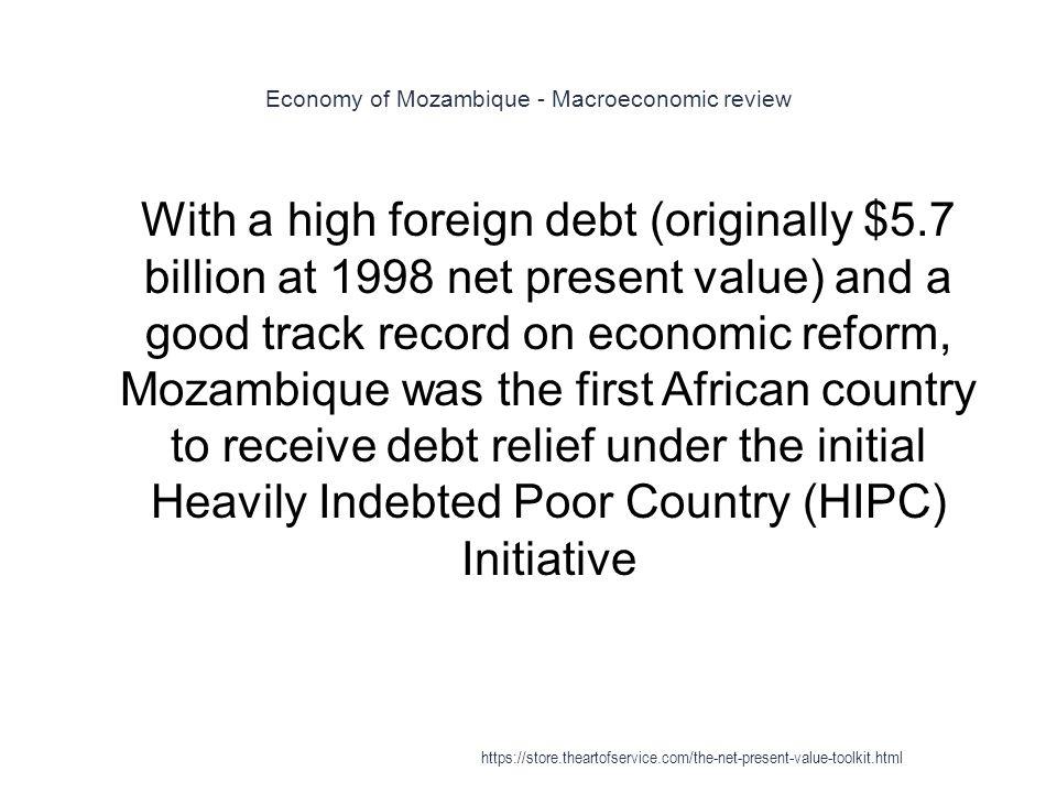Economy of Mozambique - Macroeconomic review