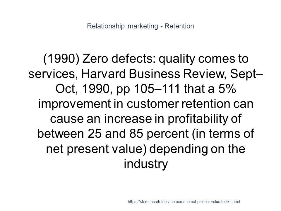 Relationship marketing - Retention