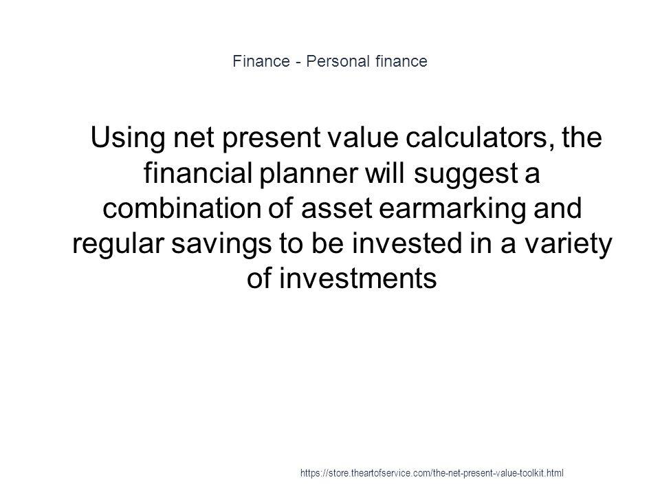 Finance - Personal finance